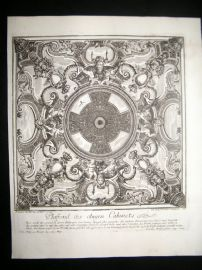 Paul Decker 1711 Folio Baroque Architectural Print. Floor 49